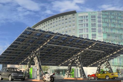 Ades. Energía solar. Seguidor solar. Parking solar